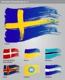 Wektorowe Międzynarodowe Farby Muśnięcia Flaga Obrazy Royalty Free