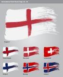 Wektorowe Międzynarodowe Farby Muśnięcia Flaga Fotografia Stock