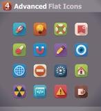 Wektorowe mieszkania UI ikony
