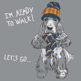 Wektorowe modnisia psa angielszczyzny Cocker Spaniel Obraz Royalty Free