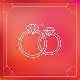 Wektorowe obrączki ślubne w konturu stylu Obraz Stock