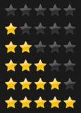 Wektorowe ocen gwiazdy Zdjęcia Royalty Free