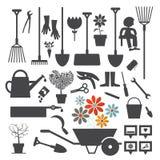 Wektorowe ogrodnictwo ikony ustawiać royalty ilustracja
