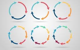 Wektorowe okrąg strzała Obrazy Stock
