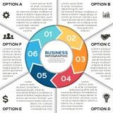 Wektorowe okrąg strzała dla biznesowy infographic Obrazy Stock