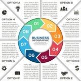 Wektorowe okrąg strzała dla biznesowy infographic Obraz Stock
