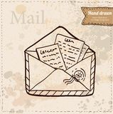 Wektorowe opłat pocztowa koperty na białym tle. Zdjęcia Royalty Free