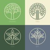Wektorowe organicznie odznaki Zdjęcia Stock