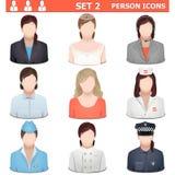 Wektorowe osob ikony Ustawiają 2 Obrazy Royalty Free