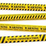 Wektorowe ostrzegawcze taśmy Fotografia Stock