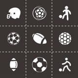 Wektorowe piłek nożnych ikony ustawiać Zdjęcie Royalty Free