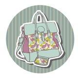 Wektorowe podróży torby Fotografia Stock