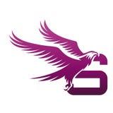 Wektorowe purpury Stawiają czoło jastrzębia S Początkowego loga Zdjęcia Stock