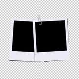 Wektorowe rocznik fotografii ramy z metal klamerką Obraz Stock