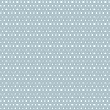 Wektorowe rocznik kropki na pastelowym błękitnym bezszwowym deseniowym tle ilustracja wektor