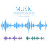 Wektorowe rozsądne fala Muzyczny Cyfrowego wyrównywacz Audio technologia Obraz Royalty Free