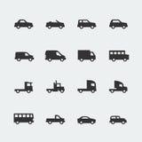 Wektorowe samochodów, pojazdów mini ikony/ Obrazy Royalty Free