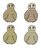 Wektorowe sowy ilustracji