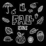 Wektorowe spadku doodle ikony ilustracja wektor