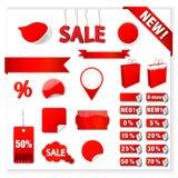 Wektorowe sprzedaży etykietki Fotografia Stock