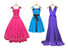 Wektorowe suknie Ilustracji