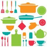 Wektorowe sylwetki kuchenni narzędzia Obraz Royalty Free
