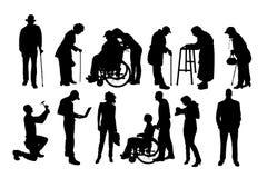 Wektorowe sylwetki różni ludzie ilustracji