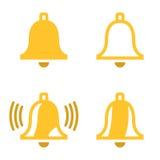 Wektorowe żółtego dzwonu ikony ustawiać Zdjęcia Stock
