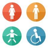 Wektorowe toalet ikony ilustracja wektor