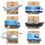Wektorowe transport ikony Zdjęcie Stock