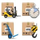 Wektorowe transport ikony Ustawiają 12 ilustracji