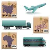 Wektorowe transport ikony Ustawiają 27 ilustracji