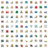 Wektorowe wysyłek ikony ustawiać Zdjęcia Stock