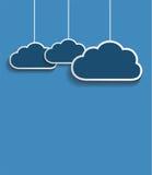 Wektorowe zmrok chmury Obraz Royalty Free