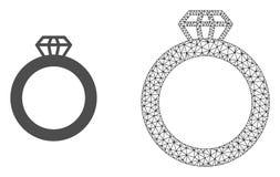 Wektorowego Å›cierwo siatki klejnotu Ringowa i PÅ'aska ikona ilustracji