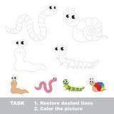 Wektorowego śladu edukacyjna gra dla preschool dzieciaków ilustracji