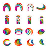 Wektorowego abecadła wibrujący logo Projektuje wersję 2 Fotografia Royalty Free
