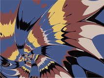 Wektorowego abstrakcjonistycznego fractal płatka kolorowi Ślimakowaci fajerwerki ilustracji