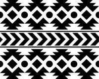 Wektorowego Afrykańskiego Etnicznego Deseniowego czerni ans tła Biała ilustracja Obrazy Royalty Free