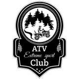 Wektorowego atv kwadrata roweru sporta klubu krańcowy emblemat ilustracja wektor