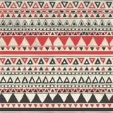 Wektorowego azteka Plemienny Bezszwowy wzór na Zmiętym ilustracji