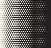 Wektorowego Bezszwowego Czarny I Biały przemiany Halftone siatki Heksagonalny wzór Zdjęcie Royalty Free