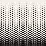Wektorowego Bezszwowego Czarny I Biały przemiany Halftone siatki Heksagonalny wzór Zdjęcia Royalty Free