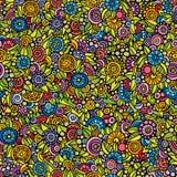 Wektorowego bezszwowego doodle jaskrawy kwiecisty wzór Zdjęcie Stock