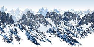 Wektorowego bezszwowego góry karakoram himalajska panorama royalty ilustracja