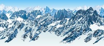 Wektorowego bezszwowego Pakistan gór karakoram himalajska panorama ilustracji