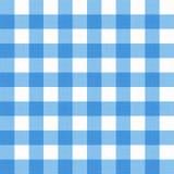 Wektorowego bieliźnianego gingham w kratkę powszechny tablecloth Bezszwowy biały błękitny płótno stołu wzoru tło z naturalną teks Zdjęcia Stock