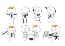 Wektorowego biznesmena prosty styl Obrazy Stock