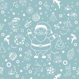 Wektorowego boże narodzenie zimy doodle projekta bezszwowy wzór Obraz Stock