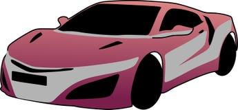 Wektorowego colour luksusowy samochodowy fiołek ilustracja wektor